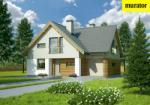 Проект одноэтажного дома с мансардой  - Муратор М136