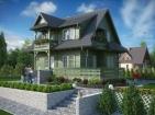 Проект живописного дома с цоколем и мансардой